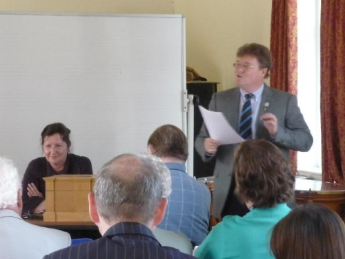 Jan Nuttall and Henry Keeling opposing the motion...