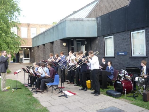 Taunton School Dance Band entertain the Hog Roast attendees...